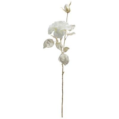 "Northlight 26.5"" White/Metallic Gold Rose Artificial Spring Stem"