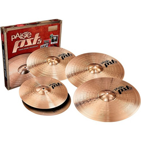 """Paiste PST5 Universal Cymbal Set with FREE 16"""" Medium Crash 14, 16, 18 and 20 in. - image 1 of 1"""