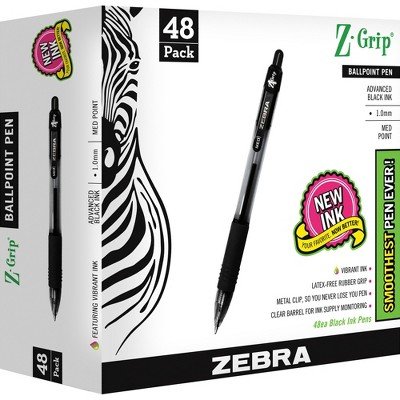 ZEBRA PEN CORP. Z-Grip Retractable Ballpoint Pen Black Ink Medium 48/Pack 22148