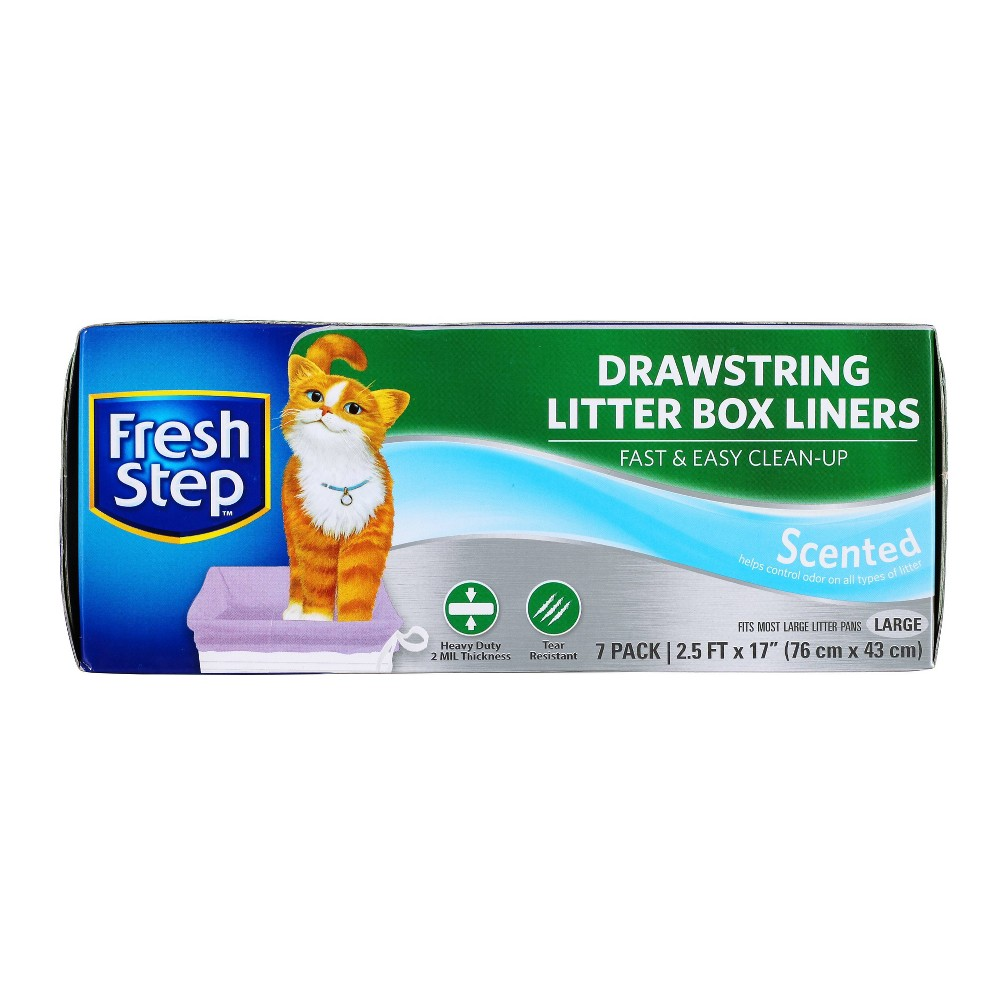 Fresh Step Cat Litter Box Liners Scented L 4pk