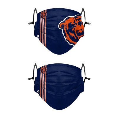 NFL Chicago Bears Adult Gameday Adjustable Face Covering - 2pk