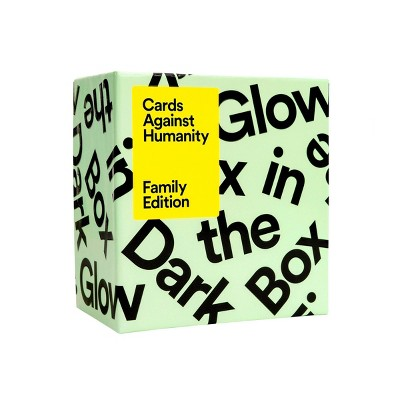 Cards Against Humanity Game Family Edition Glow in the Dark Box