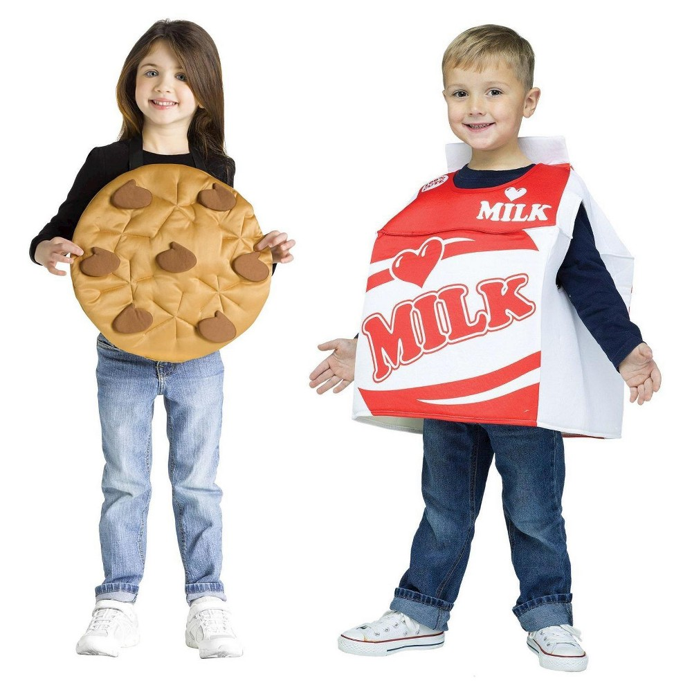 Cookies and Milk Costume For Toddlers 3T-4T, Toddler Unisex, Brown