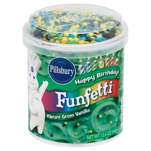 Pillsbury Funfetti Vibrant Green Vanilla Frosting 15.6 oz - image 1 of 4