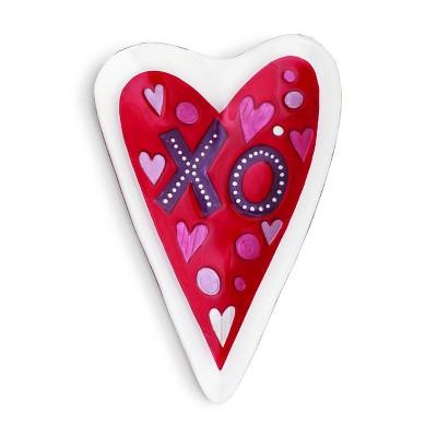 DEMDACO Red Heart Platter Red