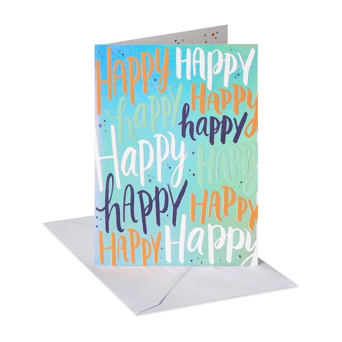 Happy Lettering Birthday Card - image 1 of 4
