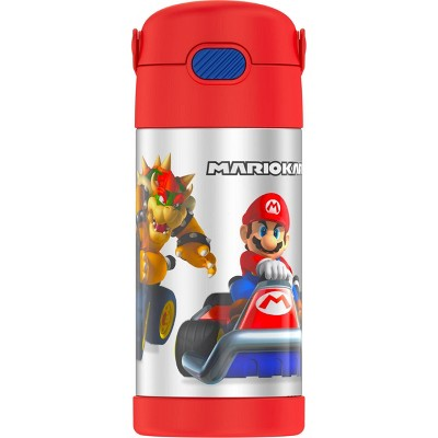 Thermos Mario Kart 12oz FUNtainer Water Bottle with Bail Handle - Red