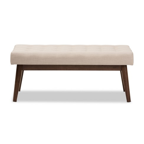 4c6ff279c440e Elia Mid Century Modern Walnut Wood Fabric Button...   Target