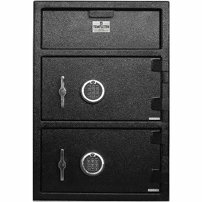 Templeton Safes Large Depository Drop Safe & Lock Box, Electronic Multi-User Keypad Lock with Key Backup, Anti Fishing Security, 3.6 CBF Black