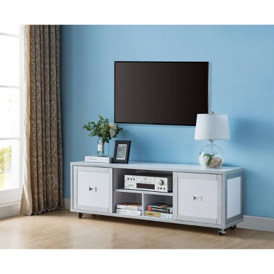 "60"" Pierre TV Stand Winter White - HOMES: Inside + Out"