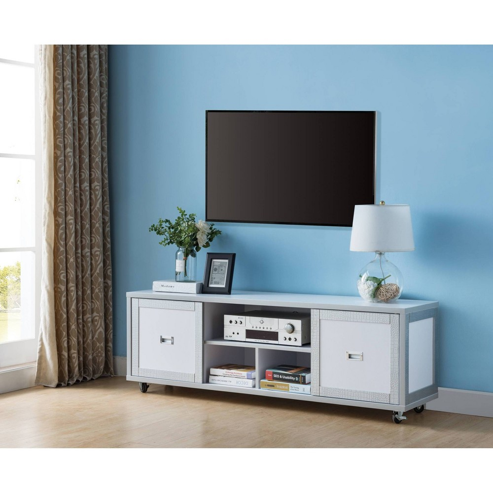 """Image of """"60"""""""" Pierre TV Stand Winter White - HOMES: Inside + Out"""""""