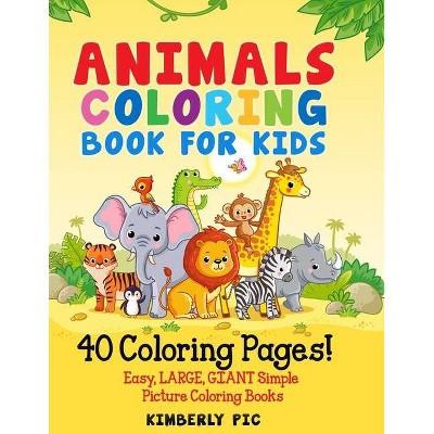 Animals Coloring Book For Kids - (paperback) : Target
