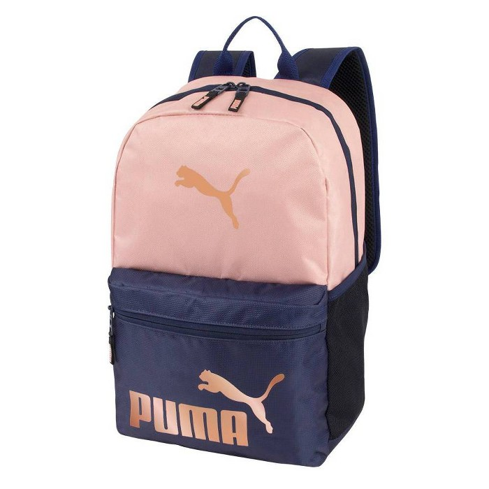 """Puma 18.5"""" #1 Backpack - Peach/Navy - image 1 of 4"""