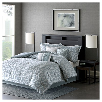 Carmela Comforter Set (King)Blue - 7pc