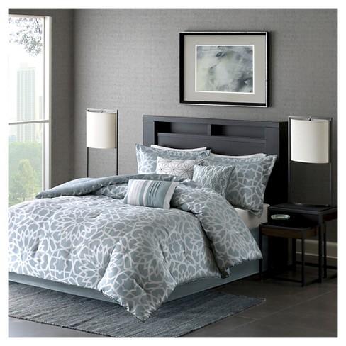 Carmela Graphic Floral Print Comforter Set - 7pc - image 1 of 4