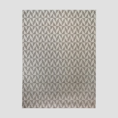5' x 7' Shifted Chevron Outdoor Rug Charcoal - Project 62™