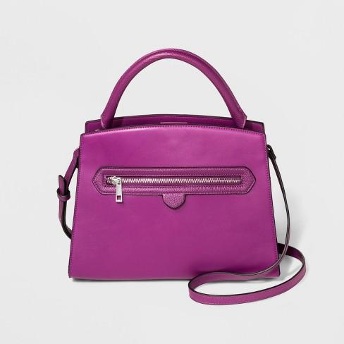Zipper Satchel Handbag - A New Day™ - image 1 of 3