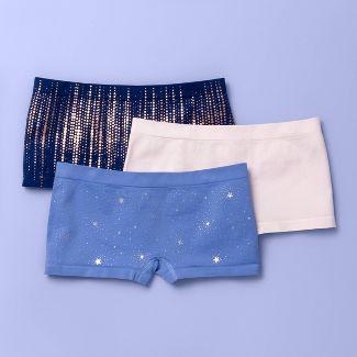 Girls 3pk Boyshort Underwear - More Than Magic™ Blue/Pink/Navy XL