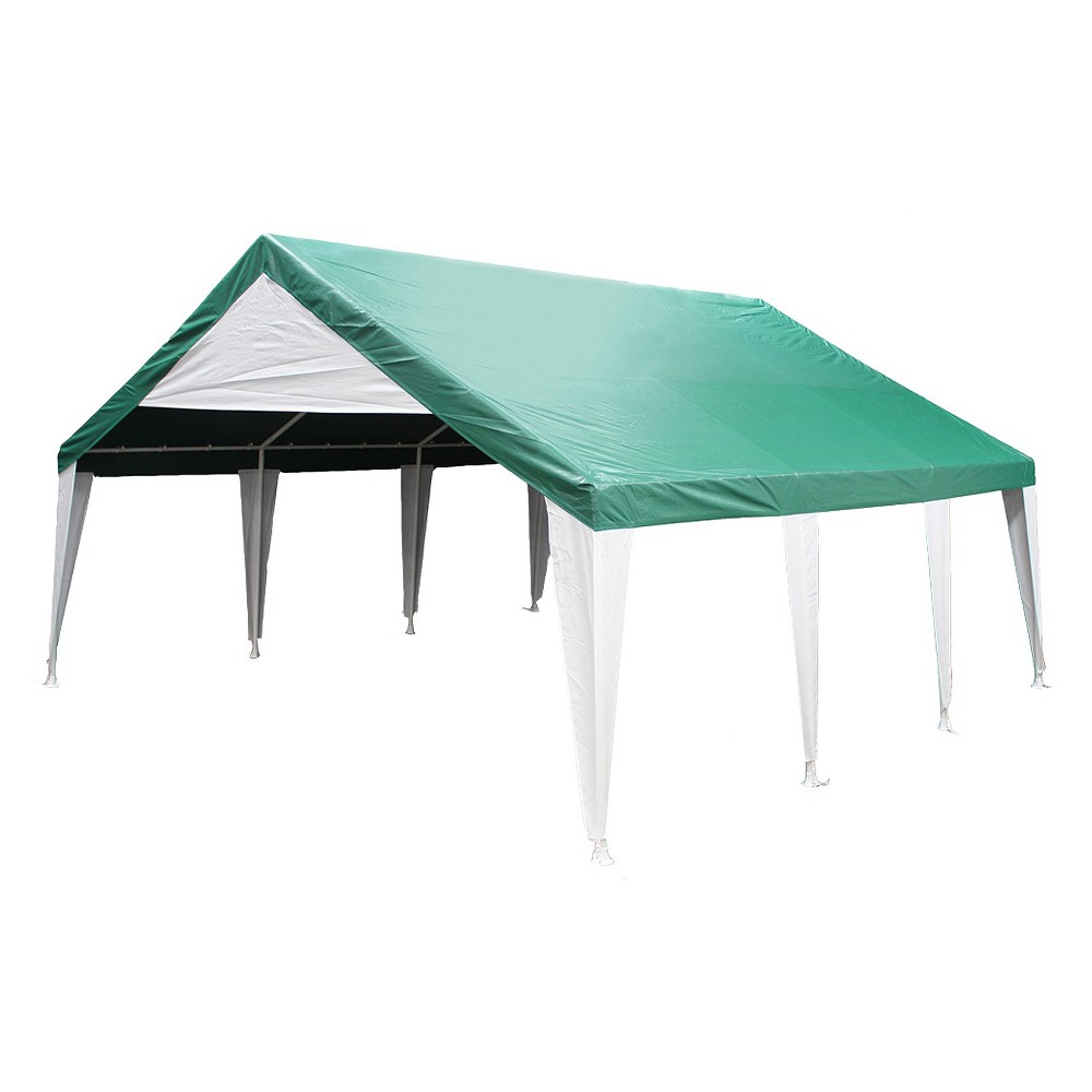 King Canopy 20' x 20' Event Tent - Green & White, Green/White