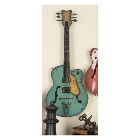 Metal Guitar Decorative Wall Art 35 X14 (Set of 2) - Olivia & May ...