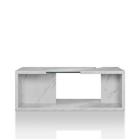 Gustave Coffee Table Winter White/Gray - HOMES: Inside + Out - image 1 of 4