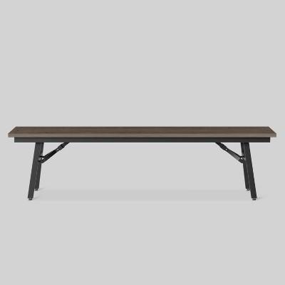 Mantega Faux Wood Folding Patio Bench - Project 62™