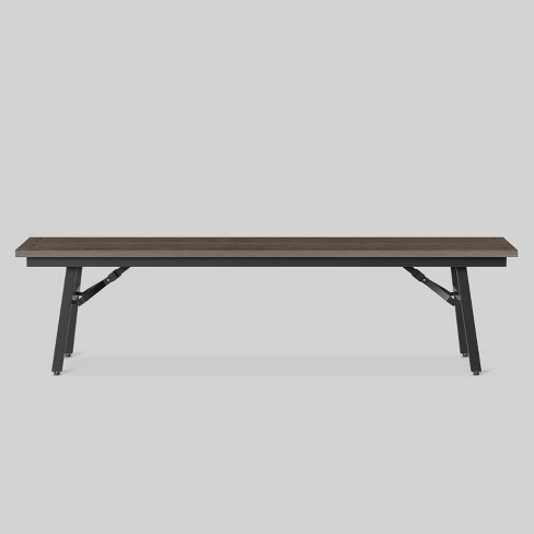 Mantega Faux Wood Folding Patio Bench - Project 62™ - image 1 of 3