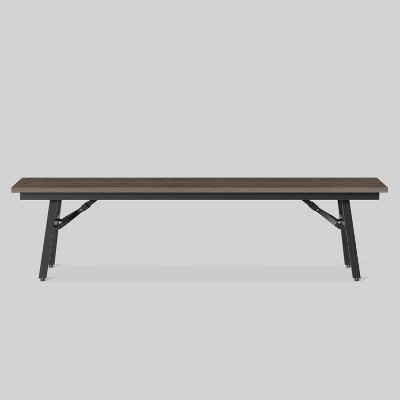 Mantega Faux Wood Folding Patio Bench   Project 62™