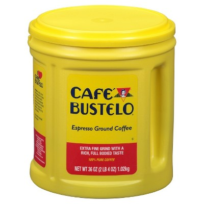 Cafe Bustelo Espresso Dark Roast Ground Coffee - 36oz