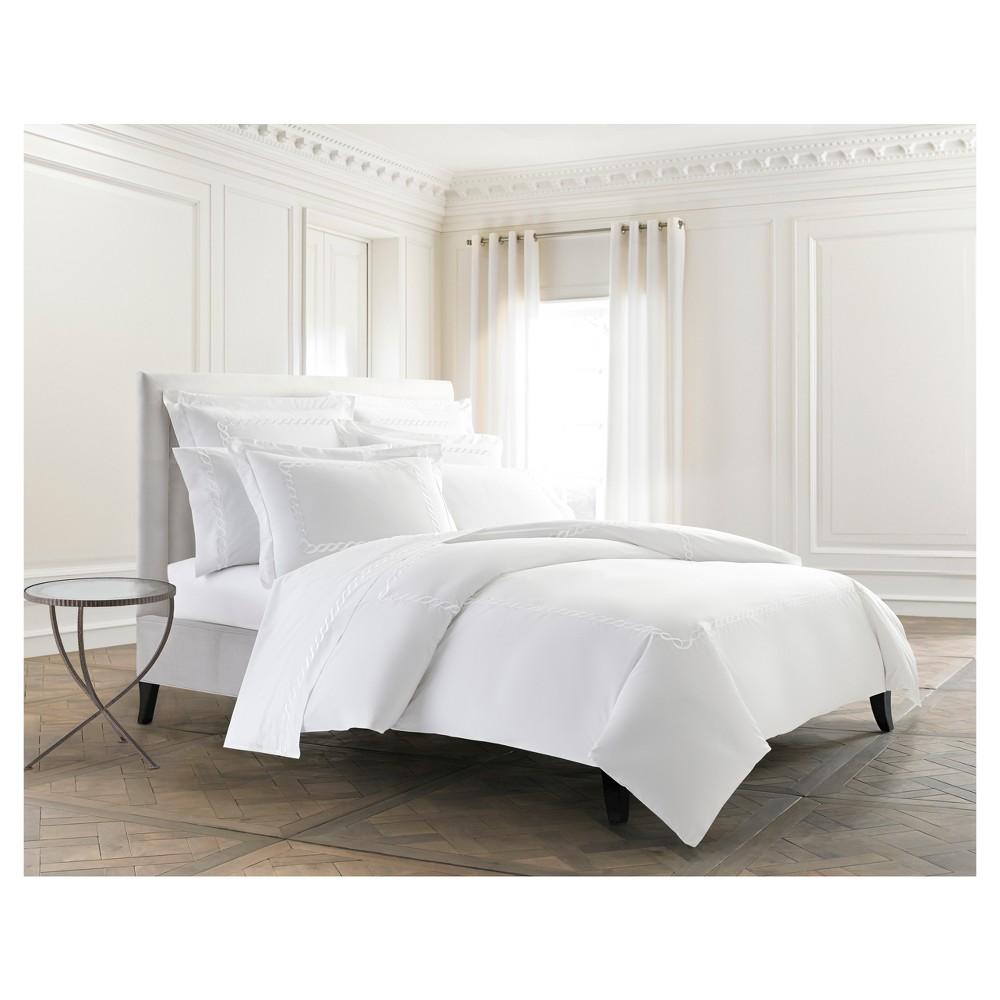 Image of Cable Bedding Duvet Cover (Full/Queen) White - Cassadecor