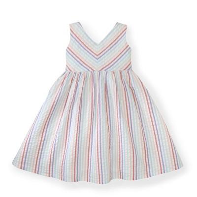 Hope & Henry Girls' Seersucker Swing Dress, Toddler