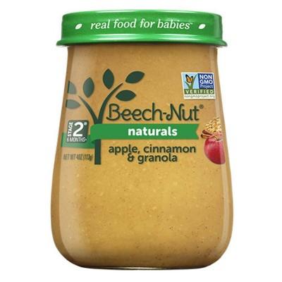 Beech-Nut Naturals Apple, Cinnamon & Granola Baby Food Jar - 4oz