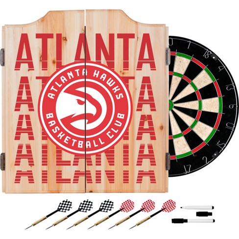 NBA City Dart Cabinet Set with Darts and Bristle Dart Board - image 1 of 2