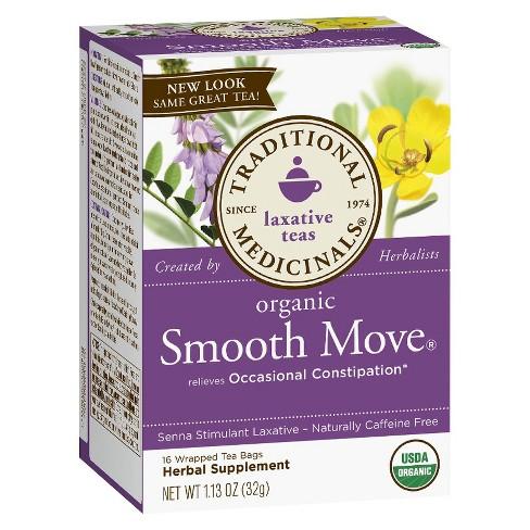 Traditional Medicinals Smooth Move Herb Tea 16ct Target