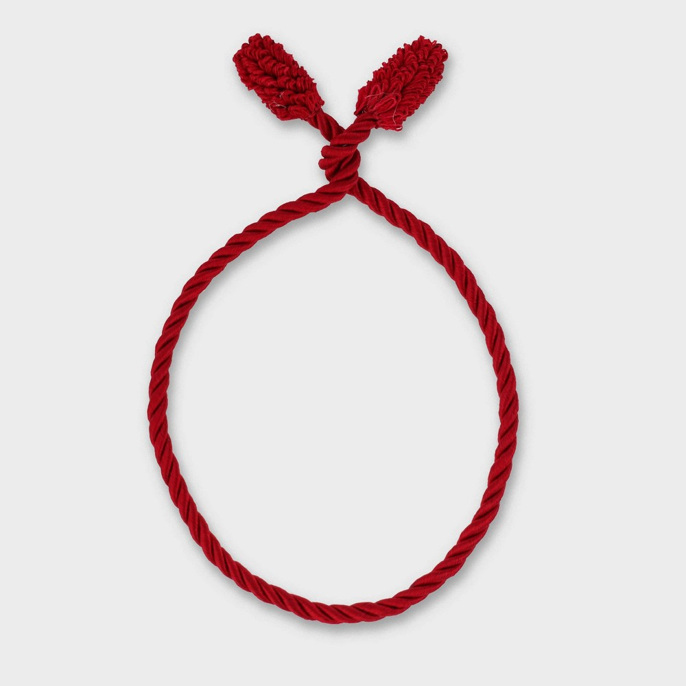 Image of Haute Decor 20in Christmas Garland Twist Ties Red 6ct