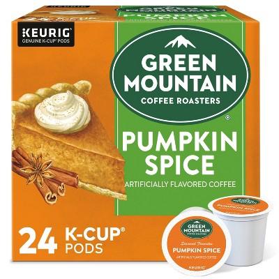 24ct Green Mountain Coffee Pumpkin Spice Keurig K-Cup Coffee Pods Flavored Coffee Light Roast