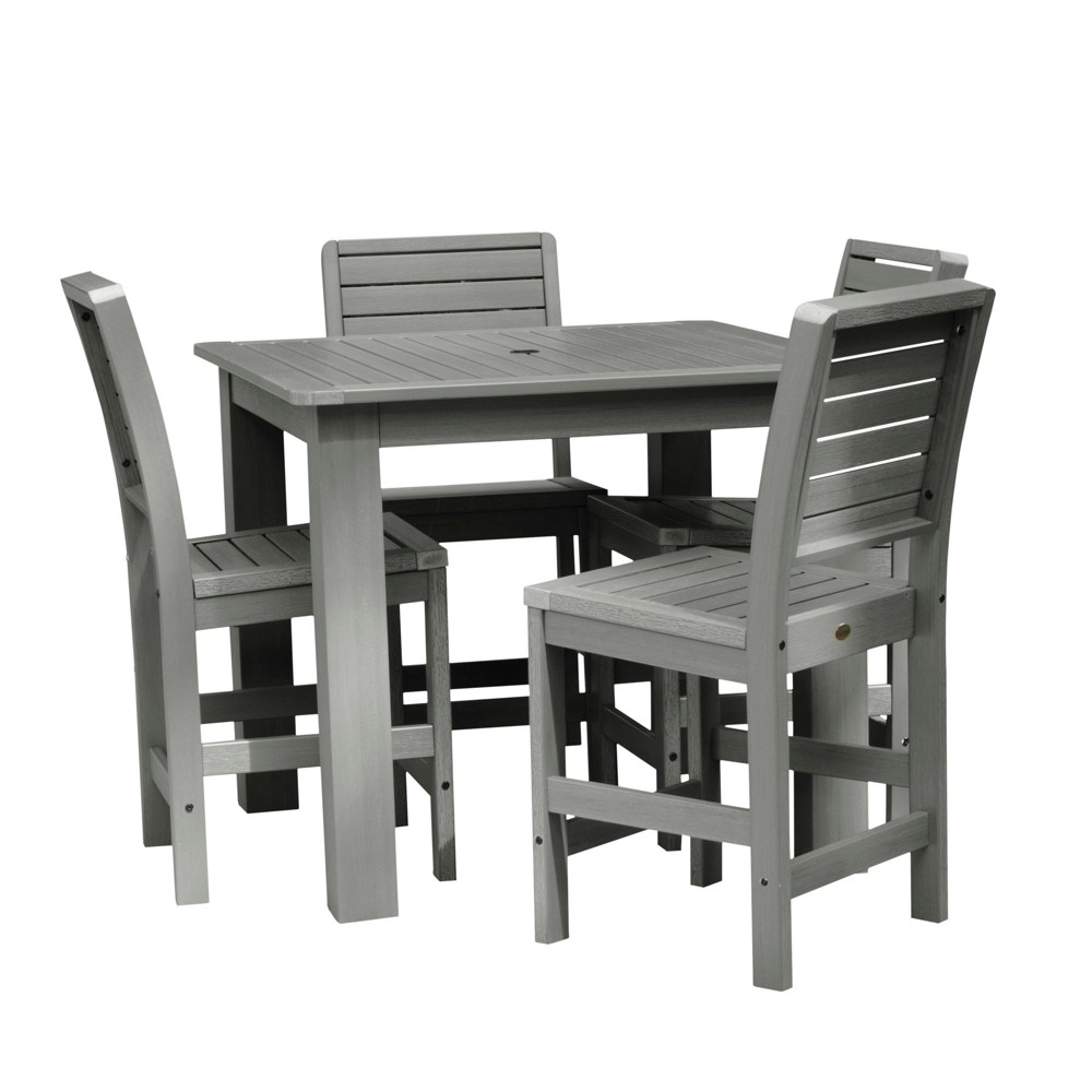 Weatherly 5pc Square Counter Dining Set Coastal Teak Gray- Highwood, Coastal Teak Gray