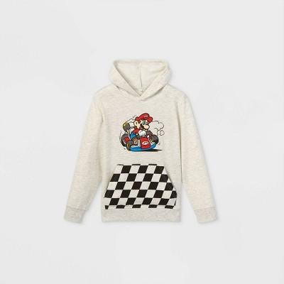 Boys' Nintendo Mario Kart Pullover Sweatshirt - Off-White