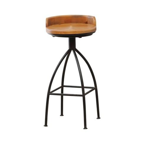 Surprising Odom Industrial Iron Bar Stool Natural Abbyson Living Inzonedesignstudio Interior Chair Design Inzonedesignstudiocom