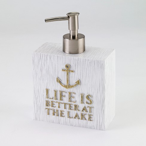 Lake Words Lotion Pump White/Gold - Avanti® - image 1 of 1