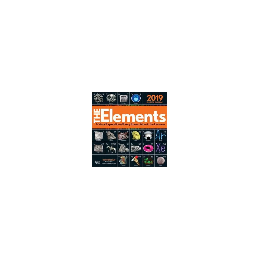 Elements 2019 Calendar : A Visual Exploration of Every Known Atom in the Universe - (Paperback)