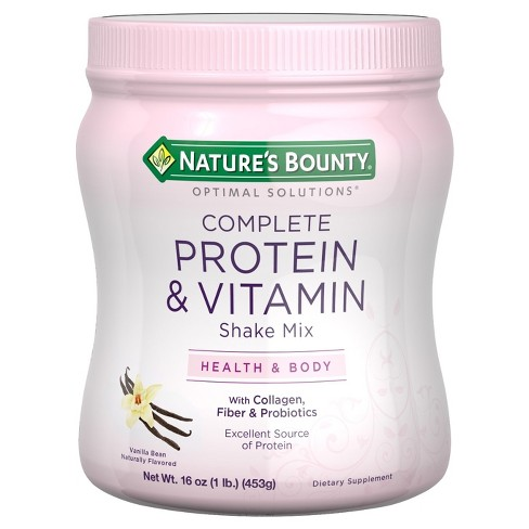 Optimal Solutions® Vanilla Bean Protein and Vitamin Dietary Supplement Shake Mix - 16oz - image 1 of 1