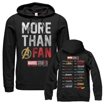 Men's Marvel 10th Anniversary More Than a Fan Pull Over Hoodie