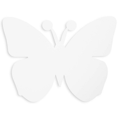 Bright Creations 50 Count Paper Cutout Shapes, Butterfly Die Cuts for Kids Crafts, 7.5 x 6 Inches, White