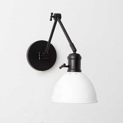 Metal Dome Sconce Black (Includes LED Bulb)- Threshold™ designed with Studio McGee