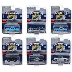 """""""""""""""Hot Pursuit"""""""" Series 32, Set of 6 Police Cars 1/64 Diecast Model Cars by Greenlight"""""""