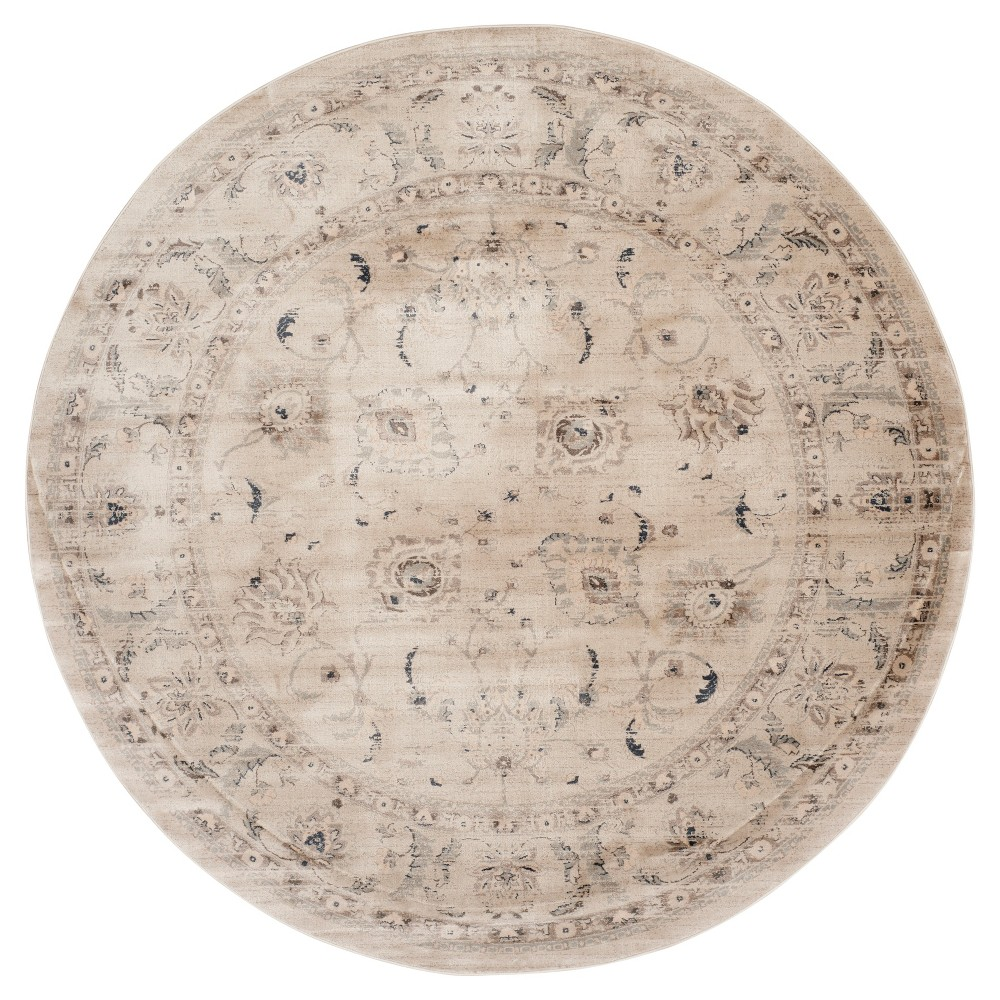 Bianca Vintage Area Rug - Light Gray / Ivory ( 6' 7 Round ) - Safavieh
