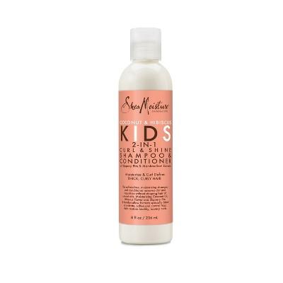 SheaMoisture Coconut & Hibiscus Kids 2-in-1 Curl & Shine Shampoo & Conditioner - 8 fl oz