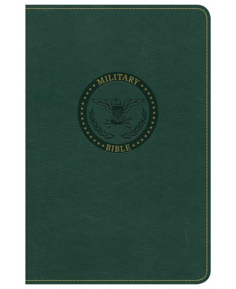 Holy Bible : Christian Standard Bible, Green, Leathertouch, Military (Paperback) - image 1 of 1