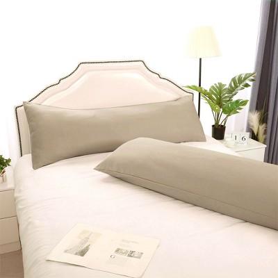 """2 Pcs 20""""x48"""" 1800 Series Soft Brushed Microfiber Pillow Cover Khaki - PiccoCasa"""